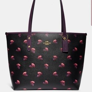 Coach X Disney Bell Flower Zip City Tote  NWT